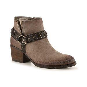 Crown Vintage wendy western leather booties NEW